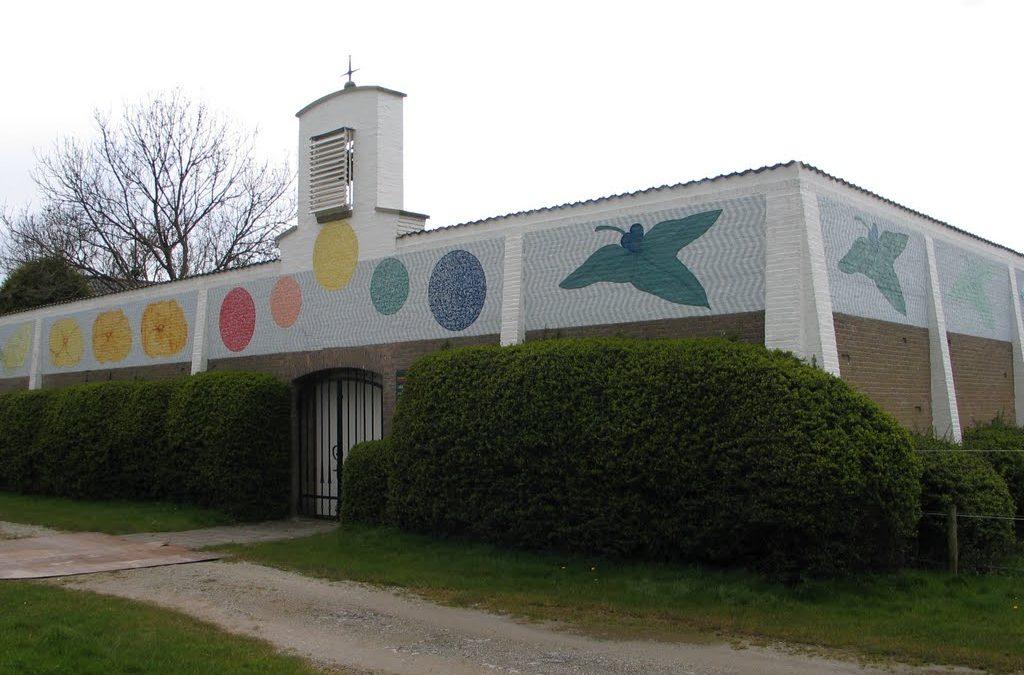 Liturgische viering in toeristenkerk